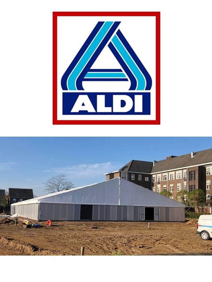 Bouw van de voorlopige ALDI vestiging gaat van start!